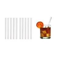 Trinkhalme aus Glas, spülmaschinenfest, lebensmittelecht, short, 10 St., m. Werbefläche