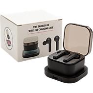 True Wireless Ohrhörer, BT 5.0, inkl. kabellose Ladebox, einf. Werbedruck inkl., 2.-4. Farbe kostenpfl.