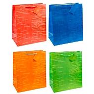 TSI Geschenktasche Laura, XXL groß, 26 x 13,5 x 32 cm, reißfest, 12er-Set farbsortiert