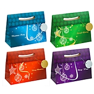 TSI Geschenktaschen Weihnachten Serie Elegant, Polypropylen, B 140 x T 330 x H 260 mm, 12er-Set, 4 Motive sortiert