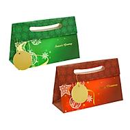 TSI Geschenktaschen Weihnachten Serie Elegant, Polypropylen, B 260 x T 100 x H 165 mm, 12er-Set, 2 Motive sortiert