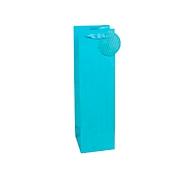 TSI geschenktasje krijtstreep, voor flessen, 12 x 8 x 36 cm, scheurvast, set van 4, blauw