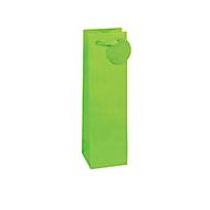 TSI geschenktasje krijtstreep, voor flessen, 12 x 8 x 36 cm, scheurvast, set van 4 groen