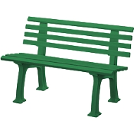 Tuinbank, 2-zits, l 1200 mm, groen