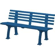 Tuinbank, 3-zitter, L 1500 mm, blauw