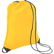 Turnbeutel Premium, aus Polyester, mit Zugkordel, gelb