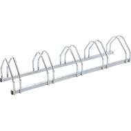 U-bout parkers, 1-zijdig, voor banden met B 35-55 mm, B 1320 x D 330 x H 250 mm, thermisch verzinkt staal, 5 parkeerplaatsen, gemonteerd