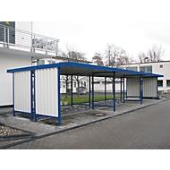 Überdachungssystem Modell Leipzig, doppelseitig, Grundeinheit, B 2250 mm, verzinkt