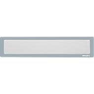 Ultradex Infotasche, magnetisch, für Überschriften, B 312 x H 60 mm, A3, grau
