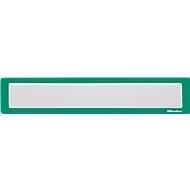 Ultradex Infotasche, magnetisch, für Überschriften, B 435 x H 60 mm, A2, grün, 5 Stück
