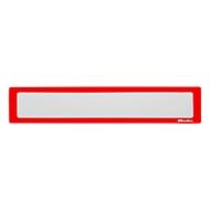 Ultradex Infotasche, magnetisch, für Überschriften, B 435 x H 60 mm, A2, rot, 5 Stück