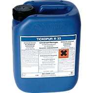 Ultraschall-Reinigungskonzentrat TICKOPUR R 33, mild-alkalisch, mit Korrosionsschutz, Kanister 5 l