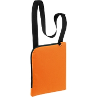 Umhängetasche BASIC, Reißverschluss-Hauptfach im Format A4, Werbedruck 180 x 240 mm, orange