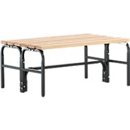 Umkleidebank, Stahlrohr/Holz, doppelt, L 1015 mm, anthrazit