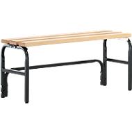 Umkleidebank, Stahlrohr/Holz, einfach, L 1015 mm, anthrazit