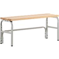 Umkleidebank, Stahlrohr/Holz, einfach, L 1015 mm, lichtgrau