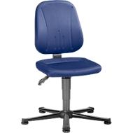 Unitec ESD-werkstoel met glijders, stof, Duotec blauw