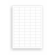 Universele etiketten, 38 x 21,2 mm, permanentklever 6500 stuks