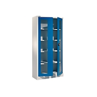 Universele kast MSI-ST 2409 met zichtvenster, aluminium zilver/gentiaanblauw