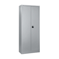 Universele kast, staal, afsluitbaar, B 800 x D 400 x H 1935 mm, 5 ordnerhoogten, aluminium zilver