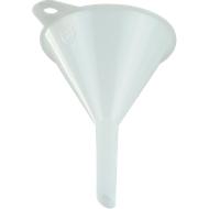 Universele trechter, Ø 80 mm, polyethyleen (HDPE), voedselveilig, met oogje en ontluchtingsribben