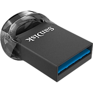 USB Flash Laufwerk SanDisk Ultra Fit USB 3.1, kompatibel mit USB 2.0/3.0, Passwortschutz, 16 GB