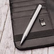 USB Kugelschreiber Sam, Metall, mit UDP Chip, 16 GB, schwarz + Lasergravur