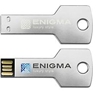USB-Stick Alu-Key, 4 GB, silber