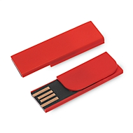 USB-stick Firstnotice, USB 2.0, 4 GB, reclamebedrukking 35 x 9 / 20 x 9 mm, rood
