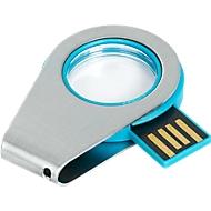 USB-Stick Mini 062 LED, Gehäusefarbe blau, Speicherkapazität 4 GB