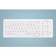 USB Tastatur Active Key AK-C7000F-U1, desinfizierbar, deutsches Notebook-Layout + Nummernfeld, weiß
