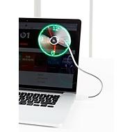 USB-Ventilator mit Uhrzeitanzeige, analog, flexibler Hals