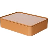 Utensilienbox HAN Allison Smart-Organizer, stapelb., mit Deckel, rutschfeste Gummifüße, ABS-Kunststoff, caramel-brown