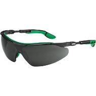 Uvex i-vo, EN 166, EN 169, polycarbonaatgrijs, frame zwart/groen, beschermingsniveau 5, 5 st.
