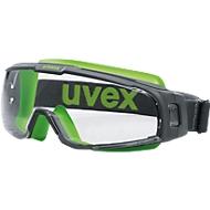 Uvex veiligheidsbril u-sonic, polycarbonaat helder, frame grijs/kalk, UV 400, 5 stuks