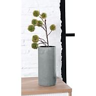 Vaas Blomus COLUNA, cilindervorm, Ø 140 x H 290 mm, polyresine, met viltpad, donkergrijs