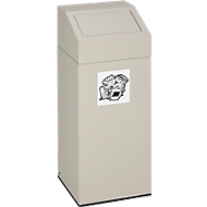 VAR afvalsorteersysteem, inhoud 45 liter, grijs