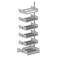 Variabo draagarmstelling, aanbouwsectie, dubbelzijdig, 250 mm vakdiepte, 750 x 2500 mm