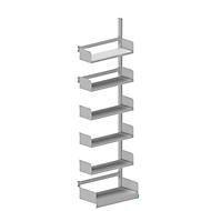 Variabo draagarmstelling, aanbouwsectie, eenzijdig, 250 mm legborddiepte, 750 x 2500 mm
