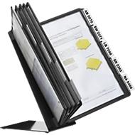 Vario Table 10 metalen tafelstandaard met 10 zichtpanelen