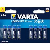 VARTA Batterien High Energy, Micro AAA, 1,5 V, 8 Stück