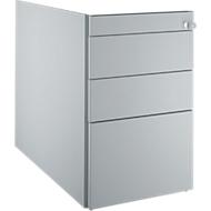 Vast ladeblok 1336, 4 schuifladen, blank aluminium/blank aluminium/kersen Roman-patroon