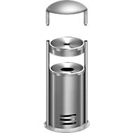 Veiligheidsasbak/Afvalbak tec-art E + regendak, GRATIS