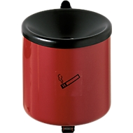 Veiligheidsasbak, H 145 x ø 150 mm, rood