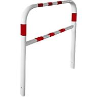 Veiligheidshek, om in te betonneren, L 2000 mm, wit/rood