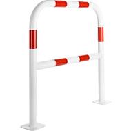 Veiligheidshek, voor deuvelmontage, L 1000 mm, wit/rood