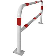 Veiligheidshek, voor deuvelmontage, L 2000 mm, wit/rood