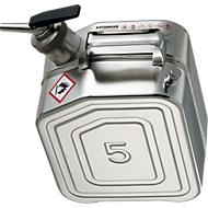 Veiligheidsjerrycan van rvs, 5 l, B 130 x D 200 x H 310 mm