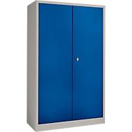 Veiligheidskast conform IP 54 met 13 schuifladen, licht zilver/gentiaanblauw