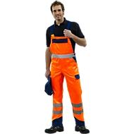 Veiligheidskleding-tuinbroek oranje/blauw m. 44